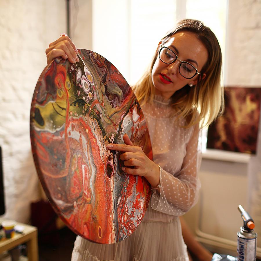 Флюид арт (Fluid art) - современное абстрактное искусство